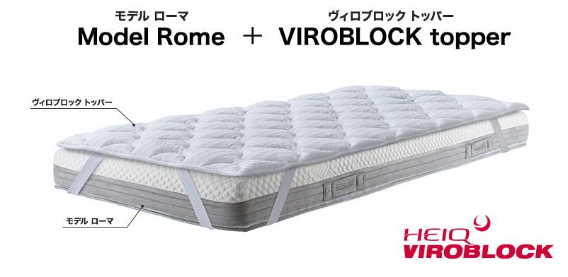 モデル ローマとViroblockトッパー