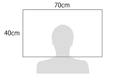 サイズ:幅70cm×奥行40cm×高さ10&9cm