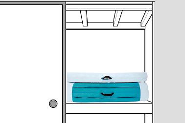 押入れなどへの収納時にもシーツをしっかりホールドしてくれます。